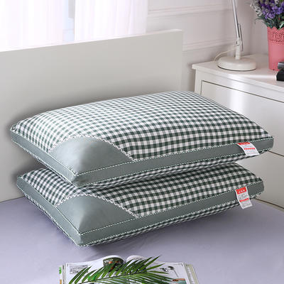 2019新品热溶枕(48*74  ) 绿格/个