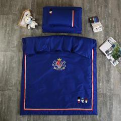 英伦风绣花幼儿园三件套/六件套 幼儿园儿童被套件 枕套30x50 小士兵-兰