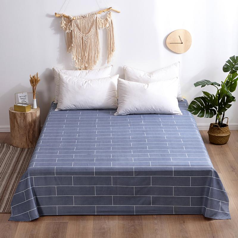 芦荟棉床单单件学生宿舍单人床1.2m双人床1.8m 90cmx210cm 典雅幽格