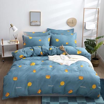 2019秋冬新款INS风加厚磨毛四件套美肤棉轻奢系列 1.2m(4英尺)床 甜蜜柠檬