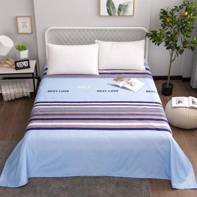 芦荟棉床单单件学生宿舍单人床1.2m双人床1.8m 90cmx210cm 卡洛