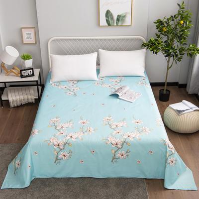 芦荟棉床单单件学生宿舍单人床1.2m双人床1.8m 90cmx210cm 梅花朵朵