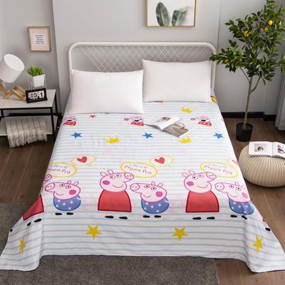 芦荟棉床单单件学生宿舍单人床1.2m双人床1.8m 90cmx210cm 小猪佩奇
