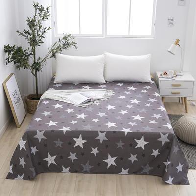 芦荟棉床单单件学生宿舍单人床1.2m双人床1.8m 90cmx210cm 星星