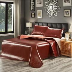 2019新款头层棕色软席三件套 1.5 * 1.95m 红棕色(三件套)