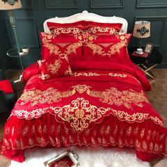 2019新款刺绣婚庆四件套十件套 1.8m(6英尺)床 十件套