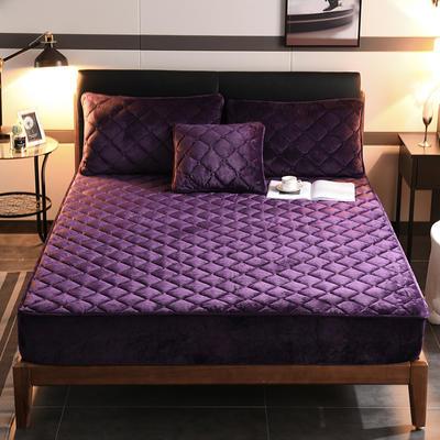 2019新款水晶绒夹棉加厚床笠 120cmx200cm 魅惑紫