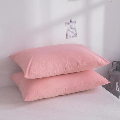2019新款水洗棉夾棉床笠配對枕套 粉紅