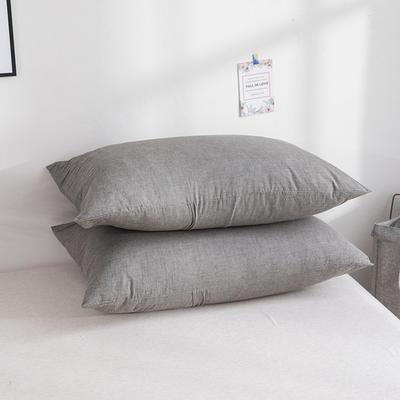 2019新款水洗棉夾棉床笠配對枕套 深灰