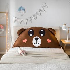 萌萌小屋卡通公主抱枕床头大靠枕头靠垫1.8m、1.5m、1.2m、0.9m皇冠带芯软靠垫 0.9m*0.5m 呆呆熊