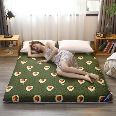 2020新款加厚磨毛印花床垫-6cm 0.9m 牛油果