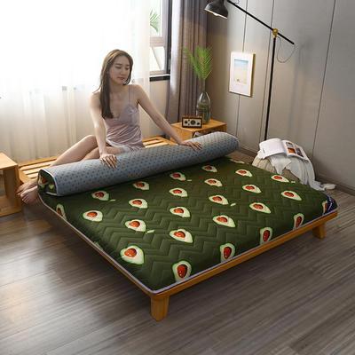 2020新款加厚磨毛印花床垫-10cm 0.9m 牛油果
