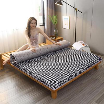2020新款加厚磨毛印花床垫-10cm 0.9m 千鸟格