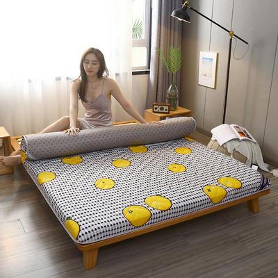 2020新款加厚磨毛印花床垫-10cm 0.9m 鲜橙