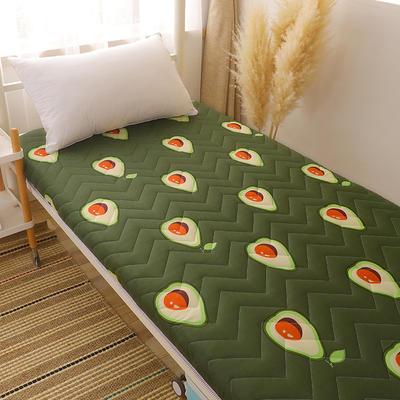 2020新款磨毛印花学生款床垫 0.9m床厚度6cm 牛油果
