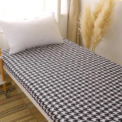 2020新款磨毛印花学生款床垫 0.9m床厚度6cm 千鸟格