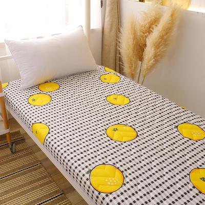 2020新款磨毛印花学生款床垫 0.9m床厚度6cm 鲜橙