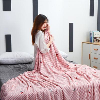 2019新款新品冰丝夏被 150x200cm 樱桃-豆沙
