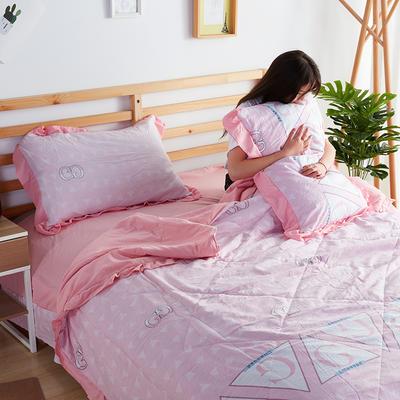 2019新款洛卡棉夏被四件套 一对枕套10元 品味生活(粉)