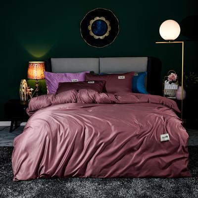 2020新款天丝棉四件套 1.8m床单款四件套 奥汀-伽罗红