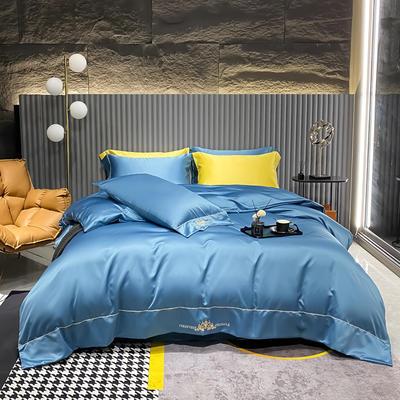 2021新款贡缎天丝刺绣四件套--布莱尼 1.8m(6英尺)床 布莱尼-宾利兰