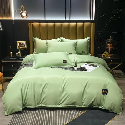 2021新款柔丝棉贴布四件套--摩登生活 1.8m(6英尺)床 摩登生活-果绿
