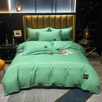 2021新款柔丝棉贴布四件套--摩登生活 1.8m(6英尺)床 摩登生活-墨绿