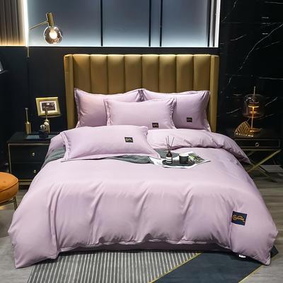 2021新款柔丝棉贴布四件套--摩登生活 1.8m(6英尺)床 摩登生活-紫灰