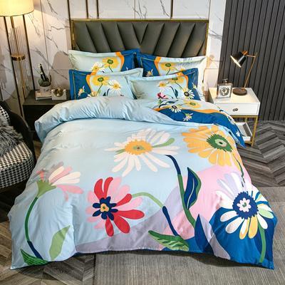 2021 全棉大版13372印花 四件套· 1.5m床单款四件套 向阳花开