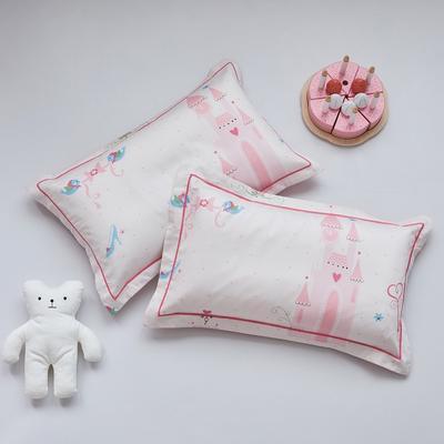 2020新款醇净系列-60长绒棉儿童枕套 35CMX55CM/只枕套 城堡女孩