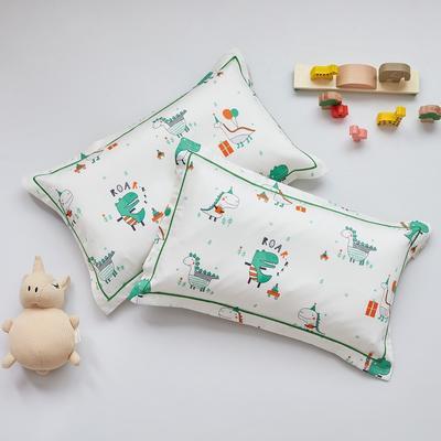 2020新款醇净系列-60长绒棉儿童枕套 35CMX55CM/只枕套 亲亲恐龙