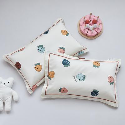 2020新款醇净系列-60长绒棉儿童枕套 35CMX55CM/只枕套 芝芝莓莓