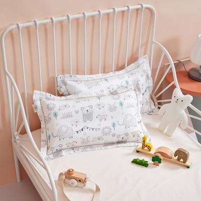 2020新款舒眠系列-双层纱儿童枕套 30cmX50cm 动物派对