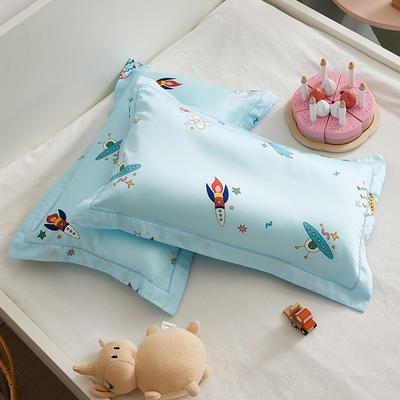 2020新款醇净系列-60长绒棉儿童枕套 35CMX55CM/只枕套 遨游太空