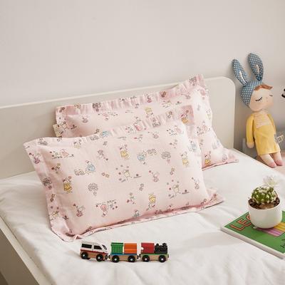 2020新款舒眠系列-双层纱儿童枕套(单只卖) 35cmX35cm枕套 兔小妹