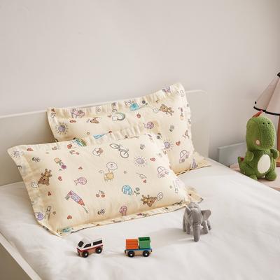 2020新款舒眠系列-双层纱儿童枕套(单只卖) 35cmX35cm枕套 玩具世界