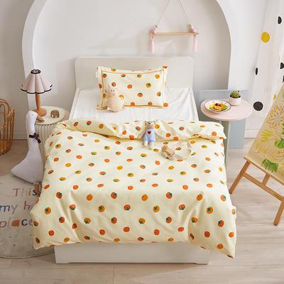 220新款儿童A类全棉磨毛被套-暖绒系列 小橘子120*150cm