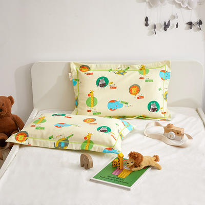 2020新款儿童A类全棉磨毛枕套—暖绒系列 35cmX55cm/个枕套 动物乐园
