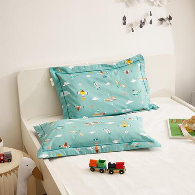 2020新款儿童A类全棉磨毛枕套—暖绒系列 35cmX55cm/个枕套 飞行日记