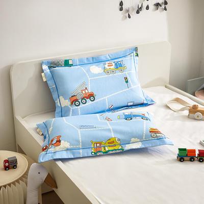 2020新款儿童A类全棉磨毛枕套—暖绒系列 35cmX55cm/个枕套 工程小队