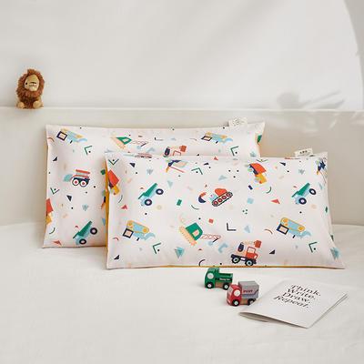 2021新款童画系列—全棉AB版儿童枕套 48*74cm 小小工程队