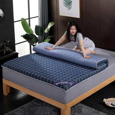 2019新款水洗棉学生系列床垫 0.9x2.0m 蓝格