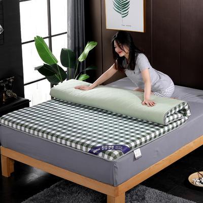 2019新款水洗棉学生系列床垫 0.9x2.0m 绿格