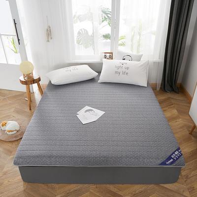 2019新款乳膠床墊單邊立體款 0.9*2米 單邊灰色(厚度6cm)