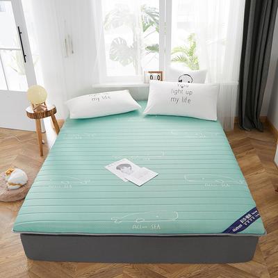 2019新款乳膠床墊單邊立體款 0.9*2米 單邊綠色(厚度6cm)