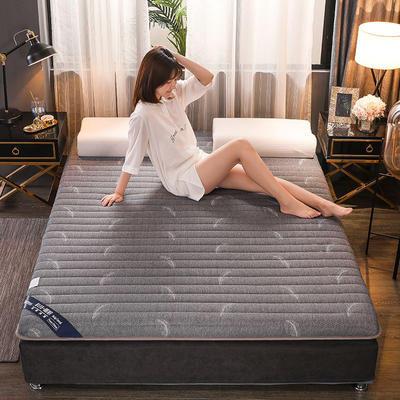 2019新款乳膠床墊單邊立體款 0.9*2米 單邊羽毛灰(厚度6cm)