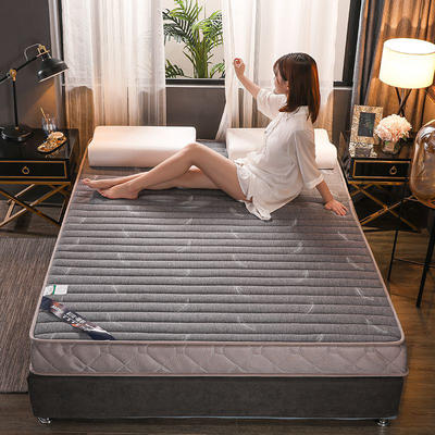 2019新款乳膠床墊單邊立體款—羽毛灰 2*2.2米 羽毛灰立體款10cm(硬質棉)