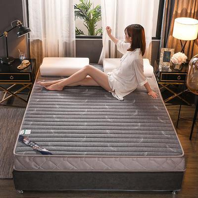 2019新款乳膠床墊單邊立體款—羽毛灰 0.9*2米 羽毛灰立體款10cm(記憶棉)