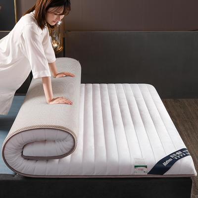 2019新款寶寶絨乳膠床墊單邊雙邊 90x200cm 白色(厚度6cm)