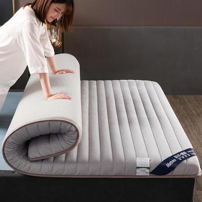 2019新款寶寶絨乳膠床墊單邊雙邊 90x200cm 灰色(厚度6cm)